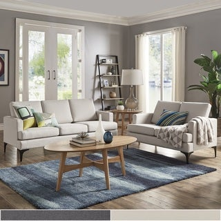 White modern couches Small White Fenn Square Arm Living Room Seating By Inspire Modern Overstockcom Buy White Modern Contemporary Sofas Couches Online At Overstock