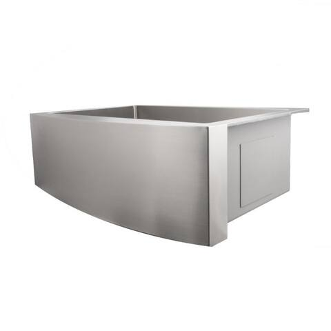 ZLINE 30 Inch Undermount Single Bowl Apron Sink in Stainless Steel)
