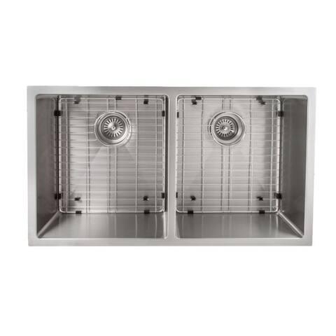ZLINE 33 Inch Undermount Double Bowl Sink in Stainless Steel