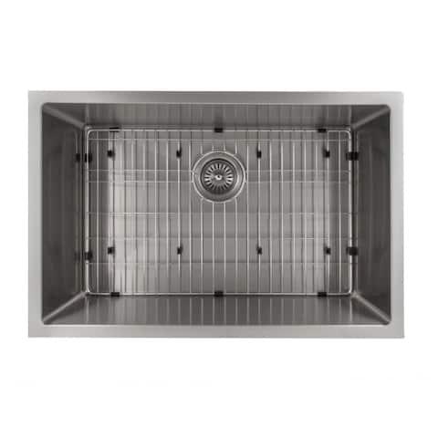 ZLINE 30 Inch Undermount Single Bowl Sink in Stainless Steel