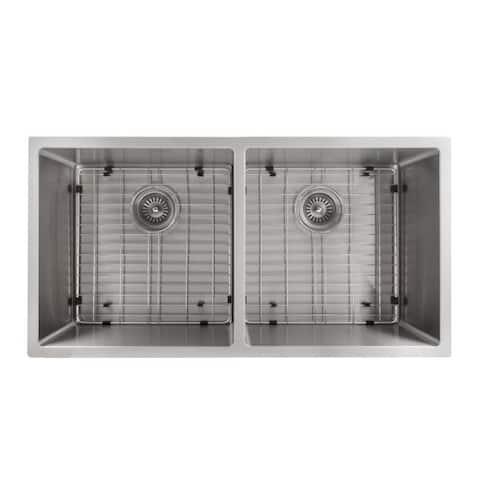 ZLINE 36-Inch Stainless Steel Undermount Double Bowl Apron Sink