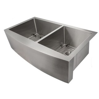 ZLINE Stainless Steel 36-inch Undermount Double Bowl Apron Sink