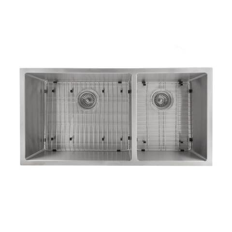 ZLINE Chamonix 36 Inch Undermount Double Bowl Sink in Stainless Steel (SR60D-36)