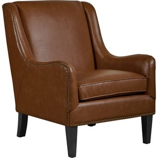Shop Tommy Hilfiger Andover Leather Accent Chair Free