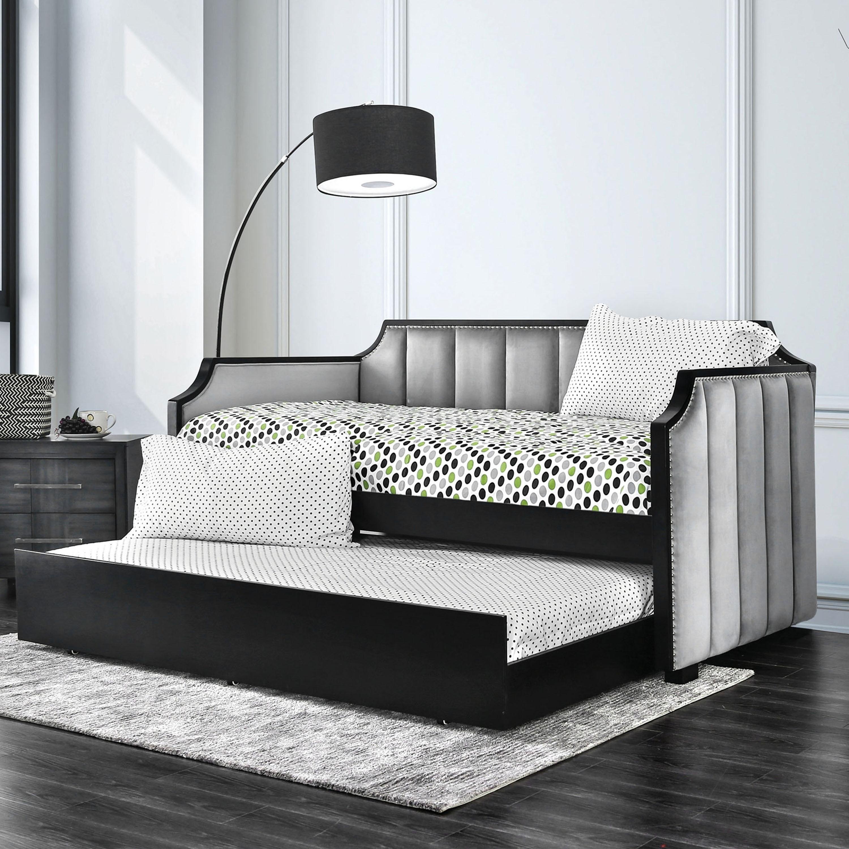 Shop Furniture Of America Kove Modern Grey Twin 2 Piece Daybed W