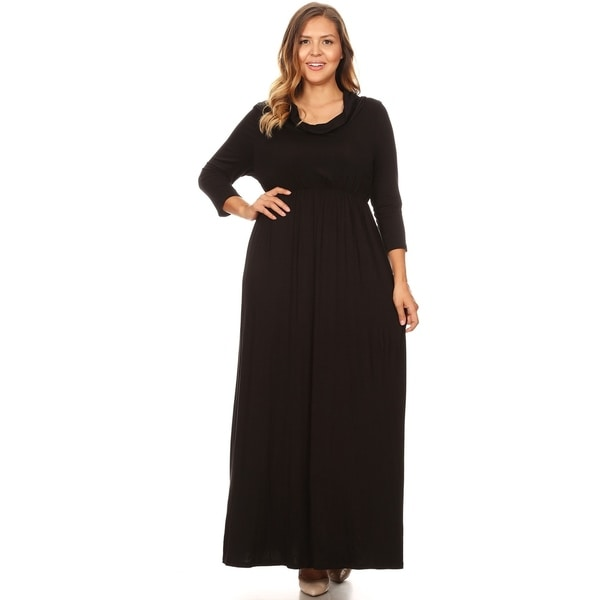 Shop Women\'s Casual Solid Loose Fit Modest Wear Plus Size Pleated ...