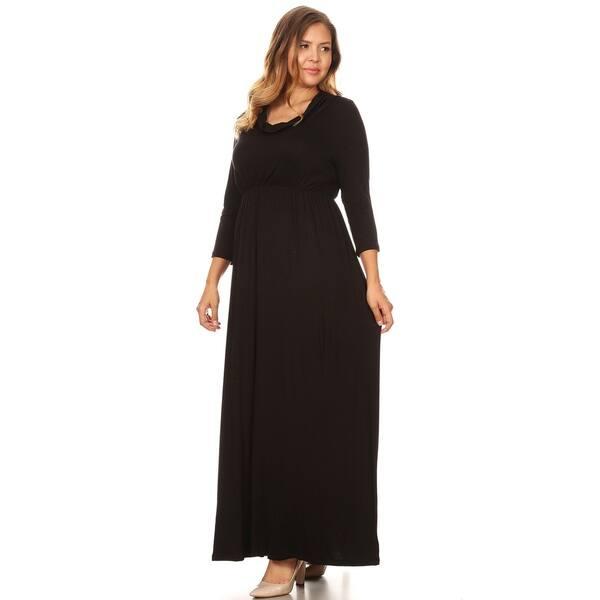 Shop Women\'s Casual Solid Loose Fit Modest Wear Plus Size ...