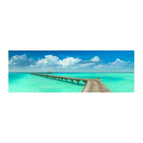 Colossal Images - Paradise Walk Canvas Wall Art - Multi-color