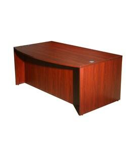 Boss Mahogany Bow-front Desk
