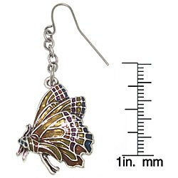 Carolina Glamour Collection Monarch Butterfly Pewter Earrings