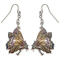 Carolina Glamour Collection Monarch Butterfly Pewter Earrings|https://ak1.ostkcdn.com/images/products/2586996/CGC-Monarch-Butterfly-Pewter-Earrings-P10800180.jpg?impolicy=medium