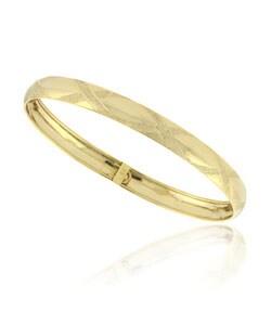 Mondevio 18k Gold Over Sterling Silver Diamond Cut Bracelet