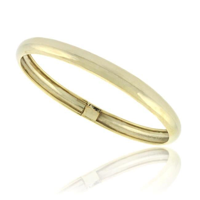 Mondevio 18k Gold Over Sterling Silver Flex Bangle Bracelet