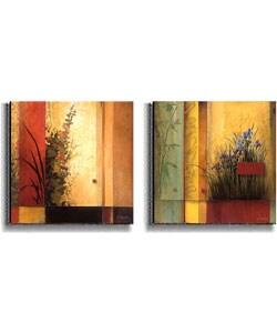 Don Li-Leger Hollyhock & Terrazzo Garden Canvas Set