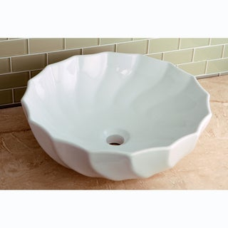 Vitreous White China Single Basin Vessel Sink