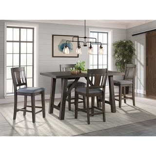 Picket House Furnishings Carter Counter Height 5PC Dining Set-Table & Four Chairs