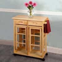 Carson Carrington Dalur 3-pc Foldable Rolling Kitchen Cart