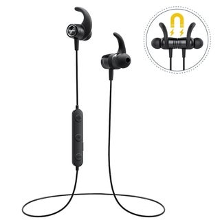 Mpow S10 Bluetooth Sports Headphones IPX7 Waterproof Sweatproof Sports Earbuds with Magnetic Connection