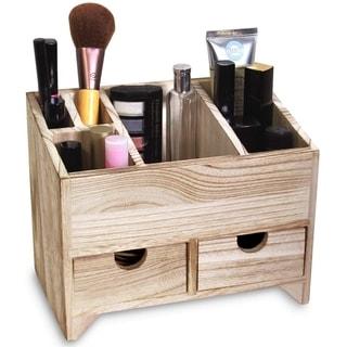 Ikee Design Multifunctional Wooden Cosmetics & Office Supplies Organizer Storage