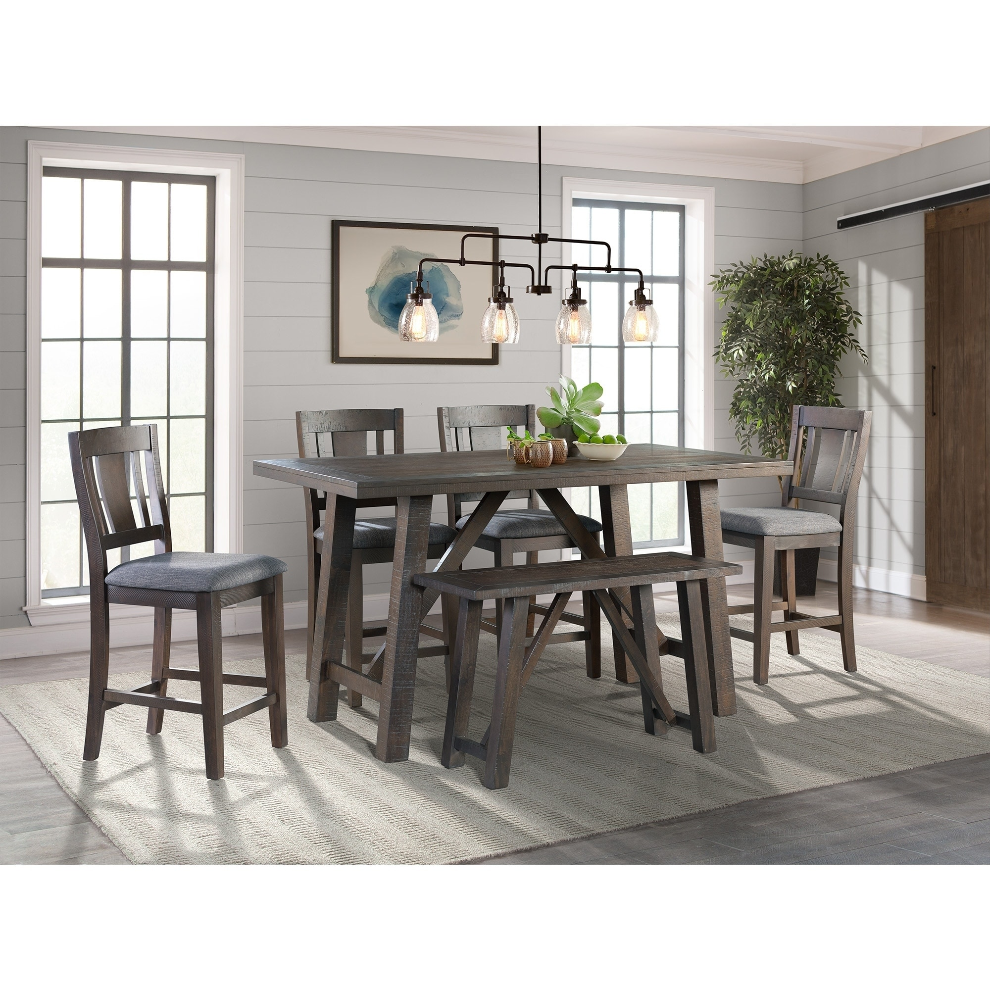 Shop Picket House Furnishings Carter Counter Height 6pc Dining Set