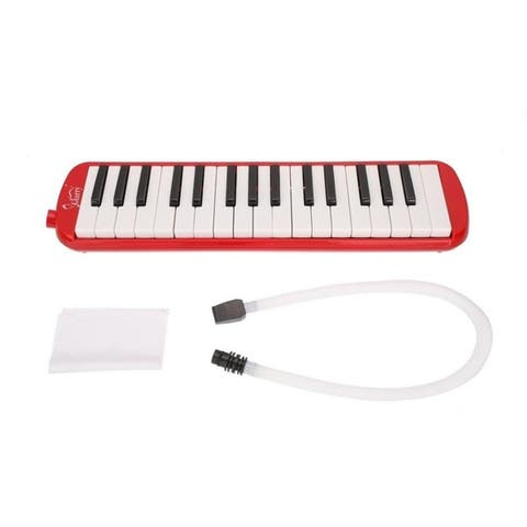 Glarry 5 Colors 32-Key Melodica-- Mouthpiece & Hose & Bag