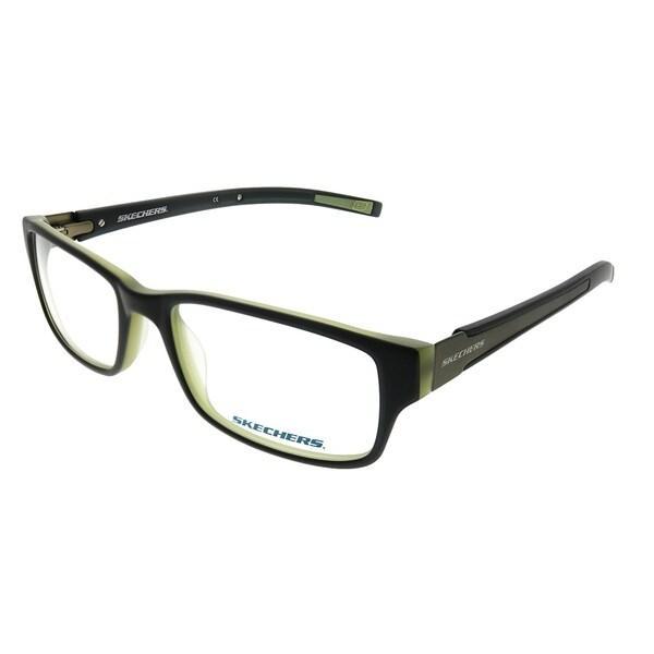 0cc12227a846 Shop Skechers Rectangle 3102 BLKGN Unisex Black Frame Eyeglasses ...