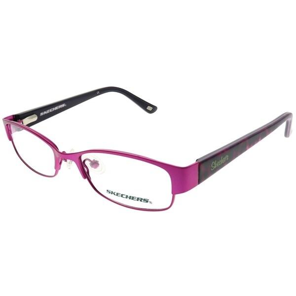 eeb00aec7b3d Shop Skechers Rectangle 1556 SPNK Childrens Pink Frame Eyeglasses ...