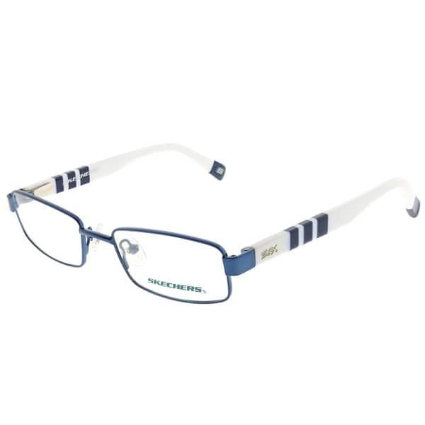 c4a45b5939e9 Shop Skechers Rectangle 1068 NVWHT Childrens Navy Frame Eyeglasses ...