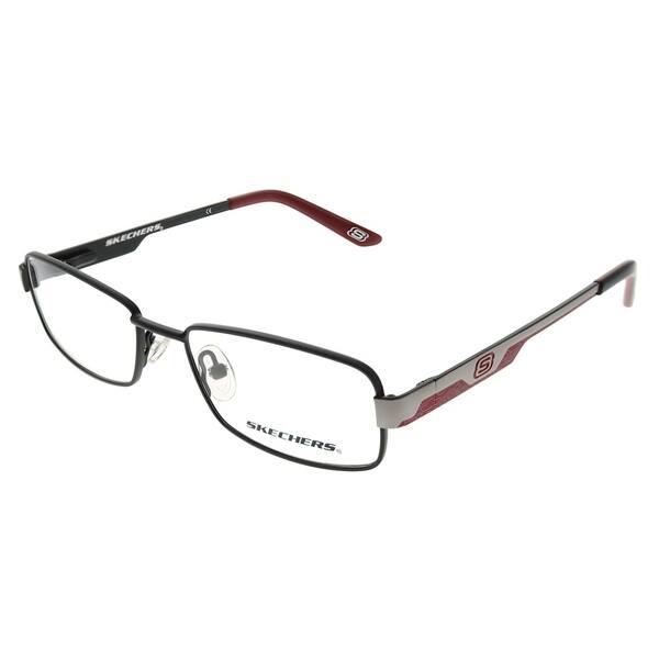 4affb6049d2c Shop Skechers Rectangle 1062 SBLK Childrens Black Frame Eyeglasses ...