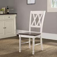 Shelby White Finish Dining Chair (Set of 2) (As Is Item)