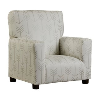 Sadie Juvenile Arm Chair - White/Silver