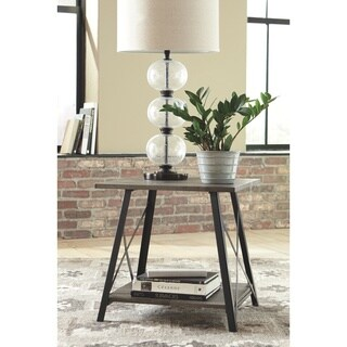 Harzoni End Table - Grayish Brown
