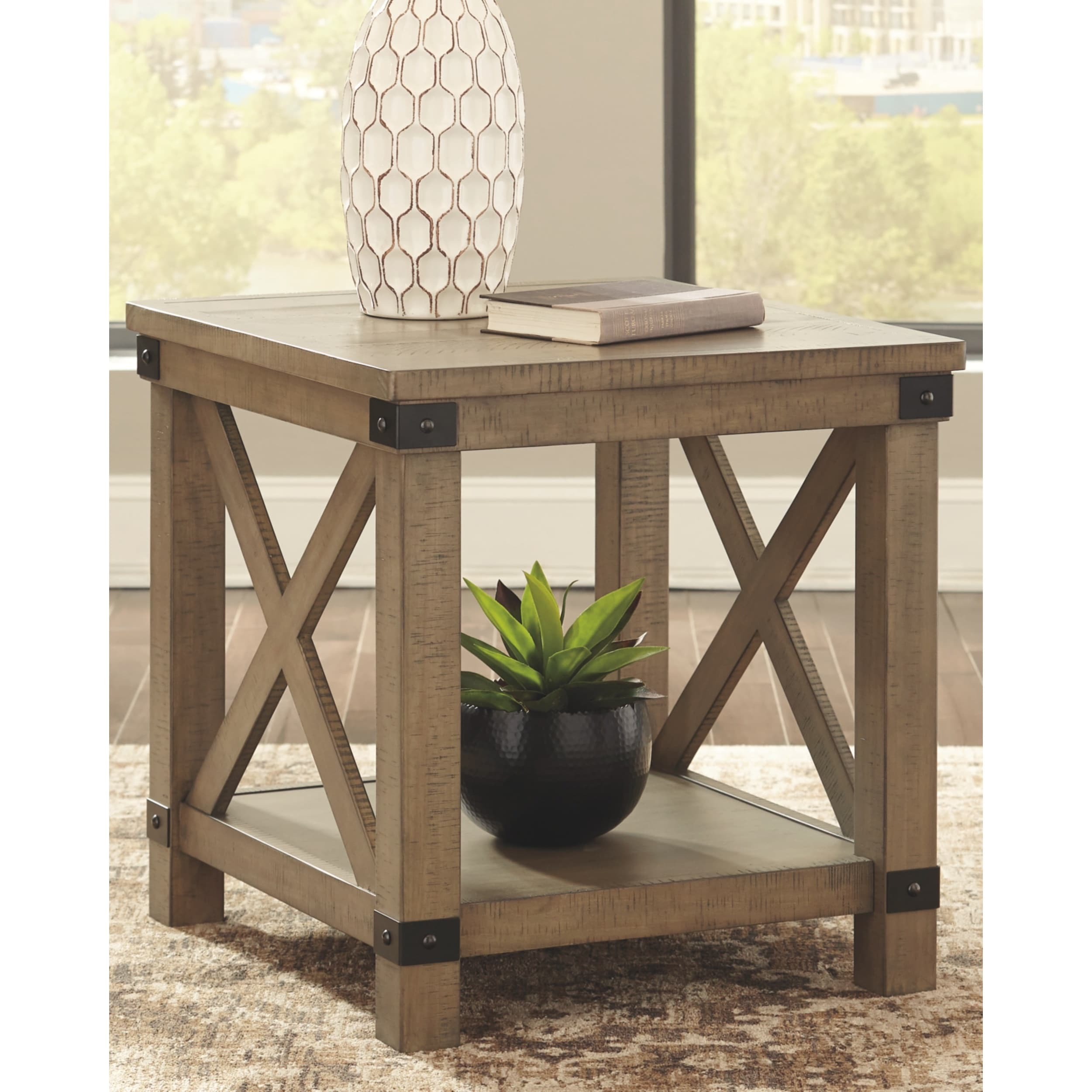 Aldwin End Table Gray Overstock 25893810