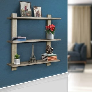 Sorbus Floating Shelf  Asymmetric Square Wall Shelf