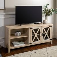 The Gray Barn Kujawa Barn Door TV Stand Console - 58 x 16 x 25h