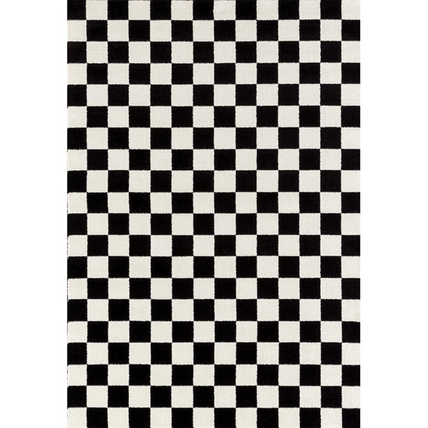 Black And White Checkered Rug: Shop 1909 Checkered Black And White 5 X 7 Area Rug