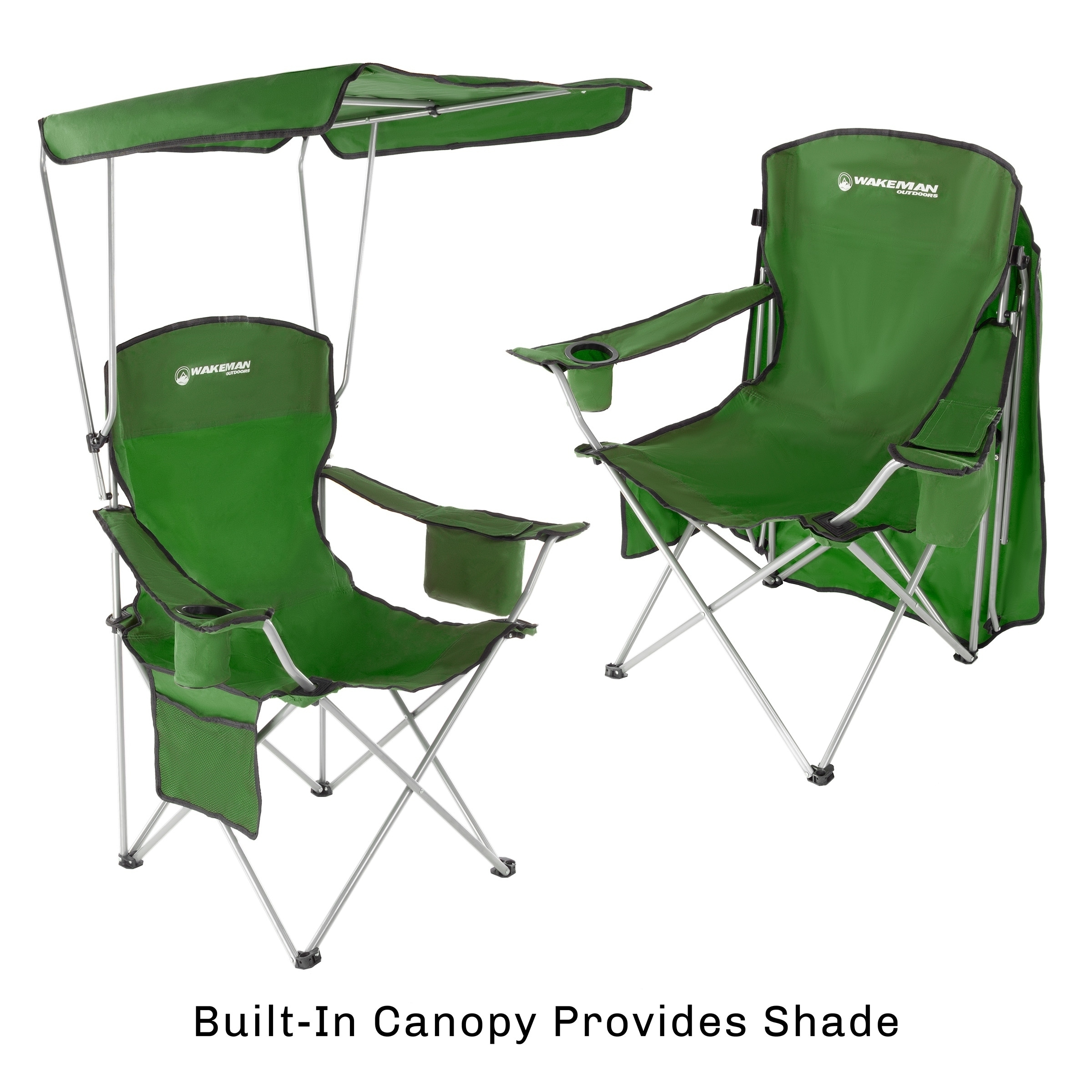 Camp Chair Canopy 300lbs Capacity By Wakeman Outdoors