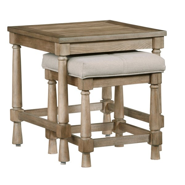 Chastain Park Nesting End Table W/ Upholstered Bench