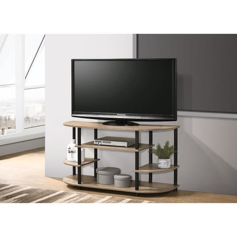 Progressive Chicopee Creamy Sandstone 4-shelf TV Stand