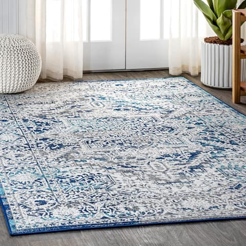 JONATHAN Y Mito Modern Persian Vintage Medallion Distressed Area Rug