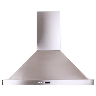 Cavaliere-Euro 36-Inch Island-Mount Contemporary Range Hood
