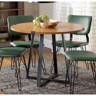 Carbon Loft Barnett 40-inch Round Metal Wrap Dining Table - 40 x 40 x 31h