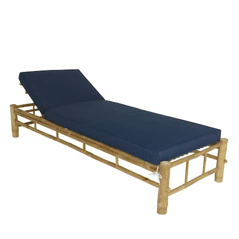 Buy Natural Single Chaise With Cushions Outdoor Chaise