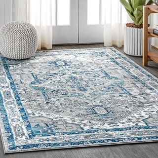 JONATHAN  Y Brisbane Modern Persian Vintage Medallion Distressed Area Rug