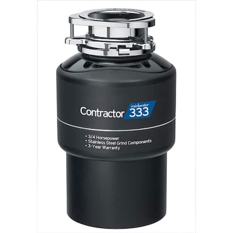 InSinkErator Contractor 333 Garbage Disposal with Cord, 3/4 HP (CONTRACTOR333W/CORD)