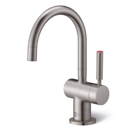 InSinkErator Indulge Modern Hot Only Faucet, Satin Nickel (F-H3300SN)
