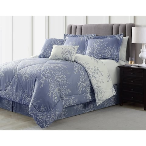 Spirit Linen Home Foliage Comforter Set (6 Piece)