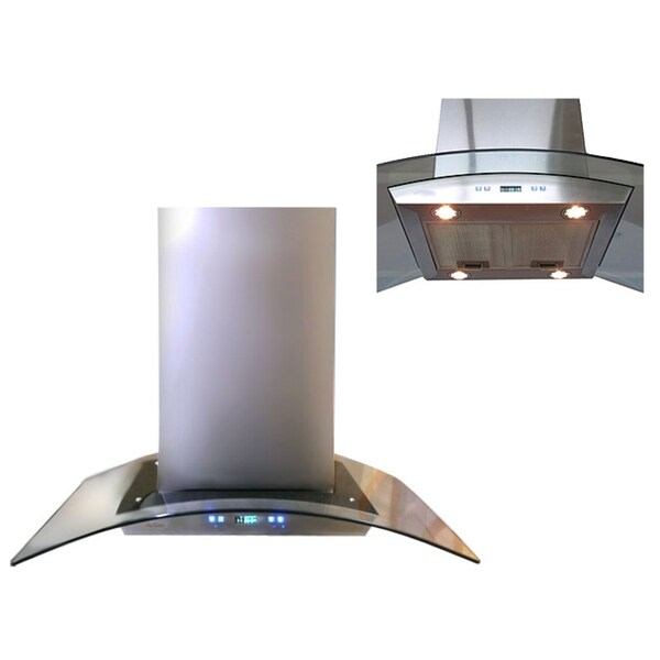 30 Inch Island Hood Part - 16: Cavaliere-Euro 30-inch Island Mount Range Hood - Free Shipping Today -  Overstock.com - 10802341