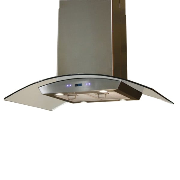 Nice 30 Inch Island Hood Part - 14: Cavaliere-Euro 30-inch Island Mount Range Hood - Free Shipping Today -  Overstock.com - 10802341