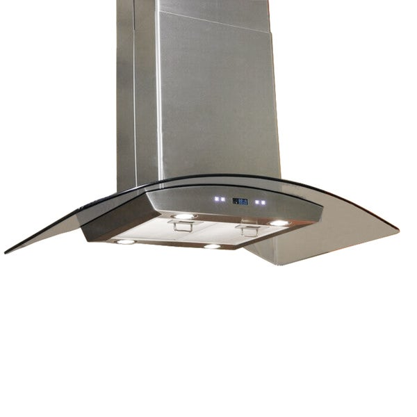 Charming 30 Inch Island Hood Part - 12: Cavaliere-Euro 30-inch Island Mount Range Hood - Free Shipping Today -  Overstock.com - 10802341